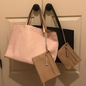 Two BP leather totes